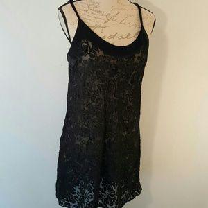 Sexy Vintage Victoria Secret Sheer Black L